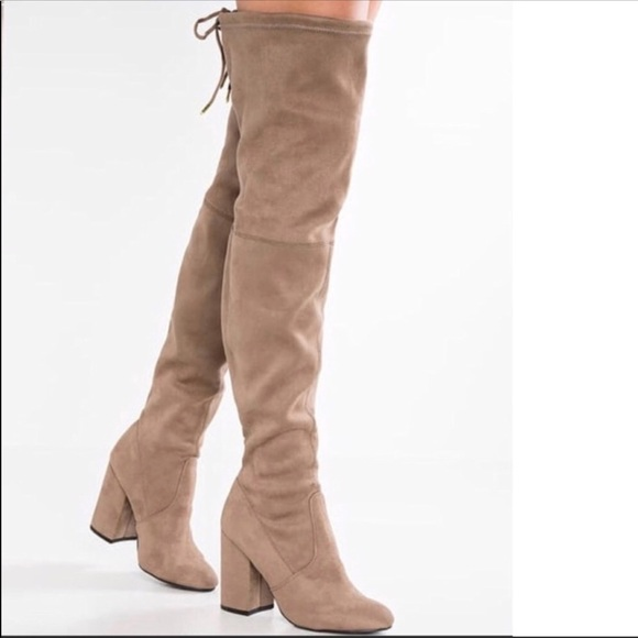 c63cd703d3c Steve Madden slayer Boots Over the Knee Faux Suede.  M 5ba1c1b7aa5719cc8d8b39bf